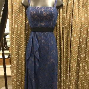 BCBG size 4 blue lace dress